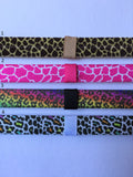 Giraffe and Leopard Print Interchangeable Headband