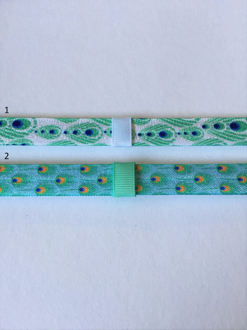 Peacock Print Interchangeable Headband