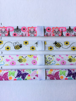 Pink Poodle, Bee, and Butterfly Interchangeable Headband