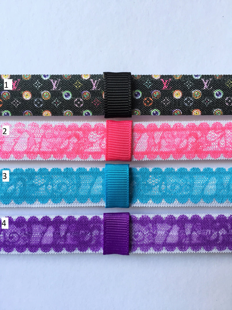 Lace Print Interchangeable Headband