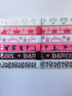 Princess, Dance, Peace Interchangeable Headband