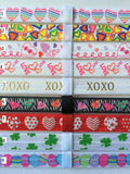 Holiday Print Interchangeable Headbands