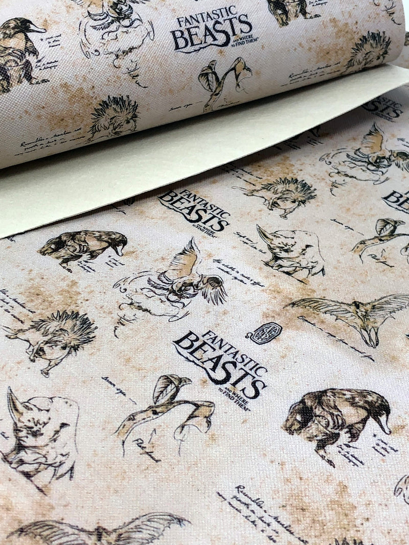 Fantastic Beasts Tan Faux Leather Sheet