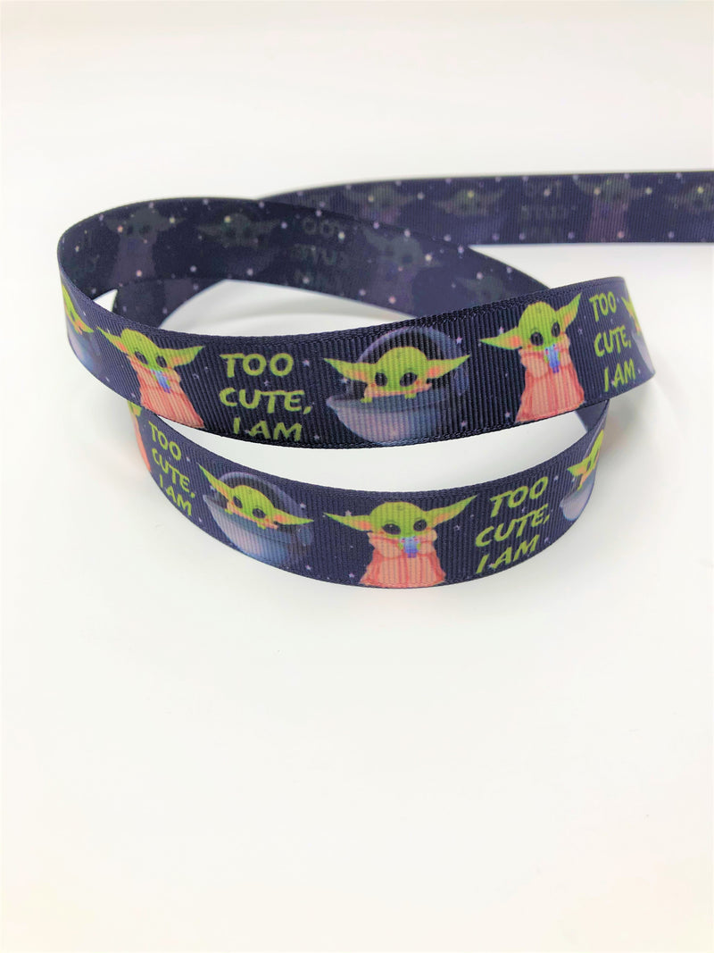 "7/8"" USDR Too Cute, I Am Double Sided Ribbon"