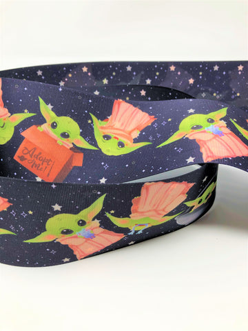 "3"" USDR Scattered Space Baby Double Sided Ribbon"