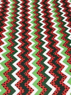 Watermelon Chevron Roll