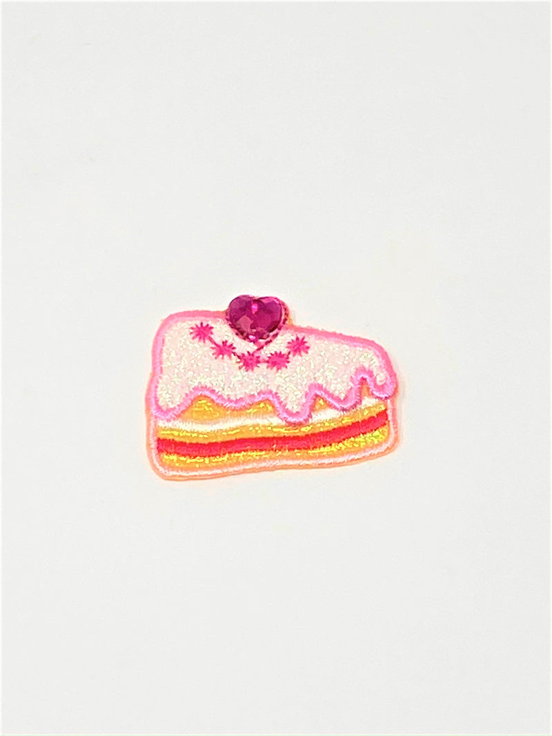 Sparkly Cake Slice Iron-On Patch