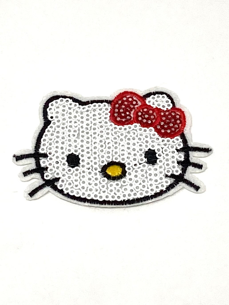 Sequin Iron on Kitty Patch