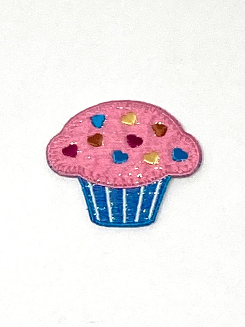 Sparkly Cupcake Iron-On Patch