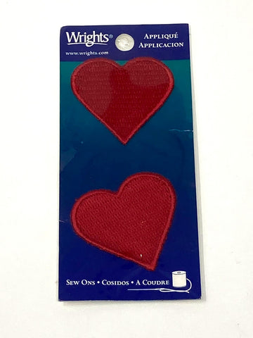 Heart Iron-On Patch (Pack of 2)