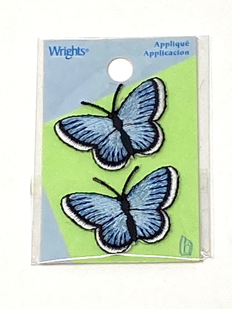 Blue Butterfly Iron-On Patch (Pack of 2)