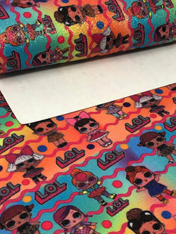 Glitter Big Eyed Girls Rainbow Sheet
