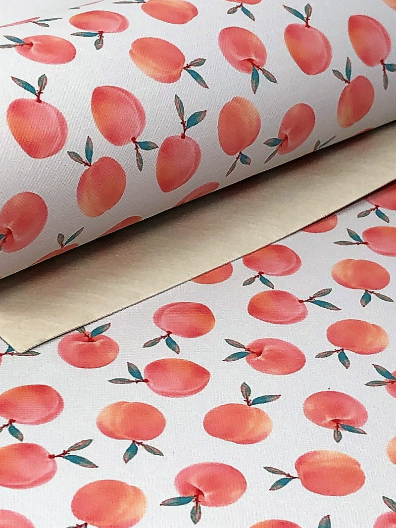 Peaches Faux Leather Sheet