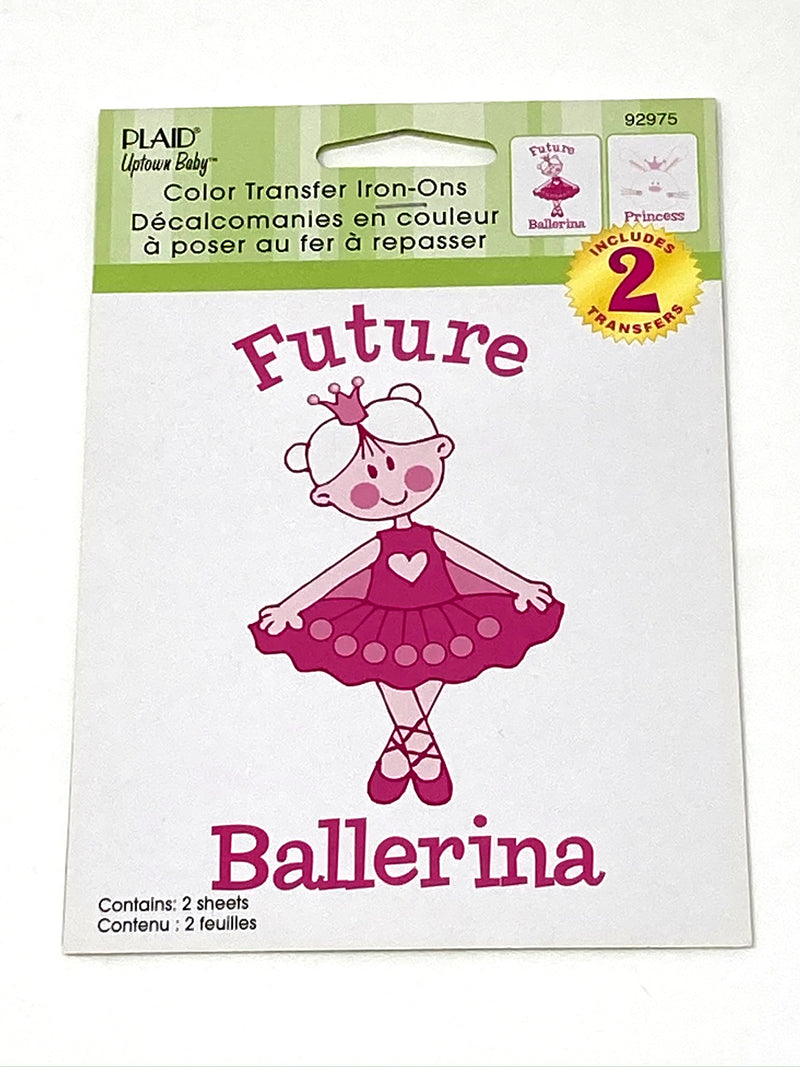 Future Ballerina and Princess Bunny Iron-On Transfers