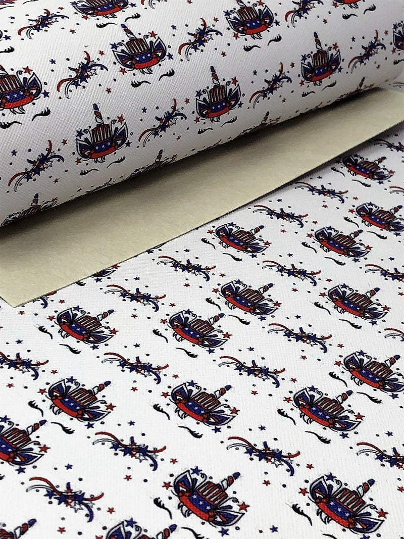 Patriotic Sleeping Unicorn Sheet