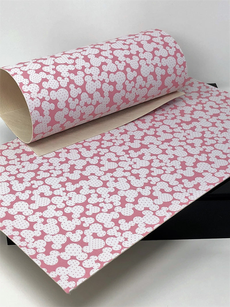 Pink Polka Dot Mouse Head Sheet