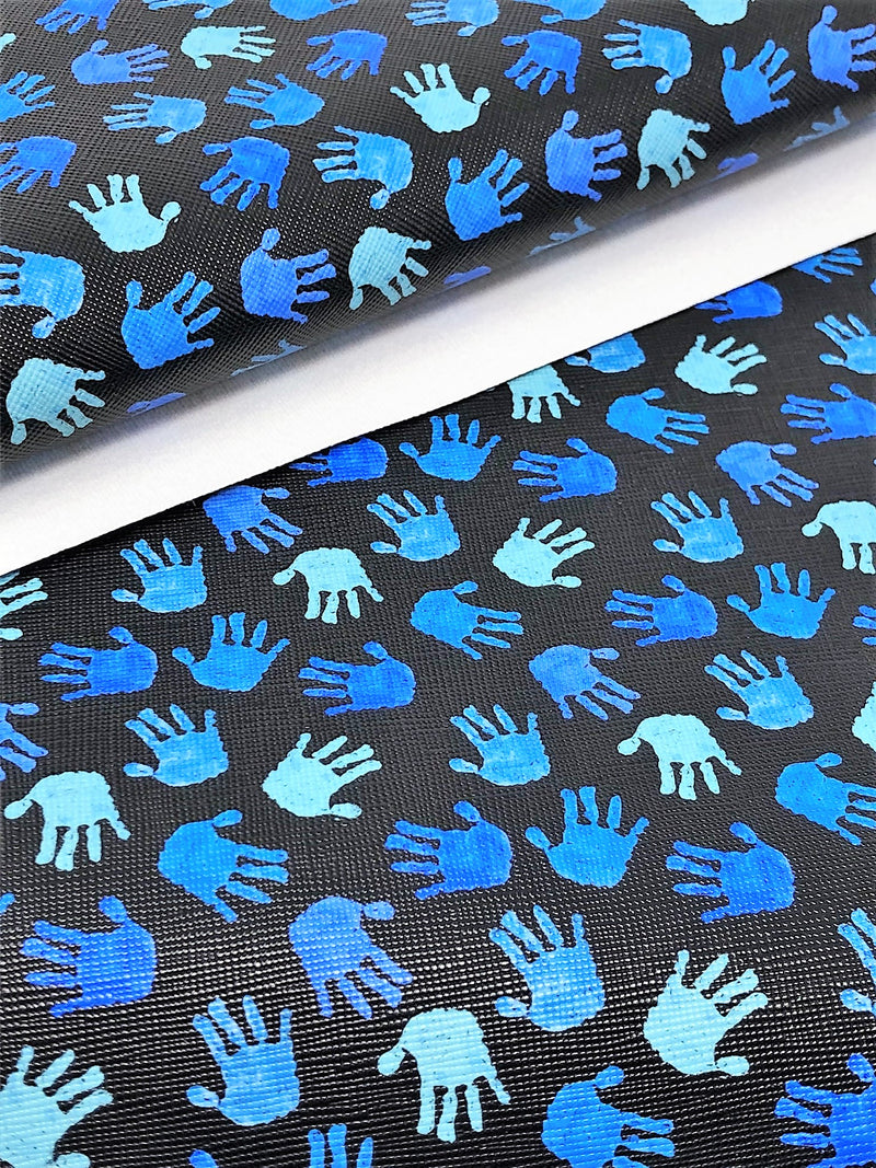 Blue Hands Sheet