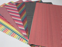 Glitter Stripes Sheet Pack (7 sheets per pack - 1 of each color)