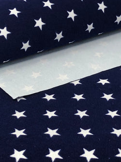 Blue Velvet Stars Fabric Sheet