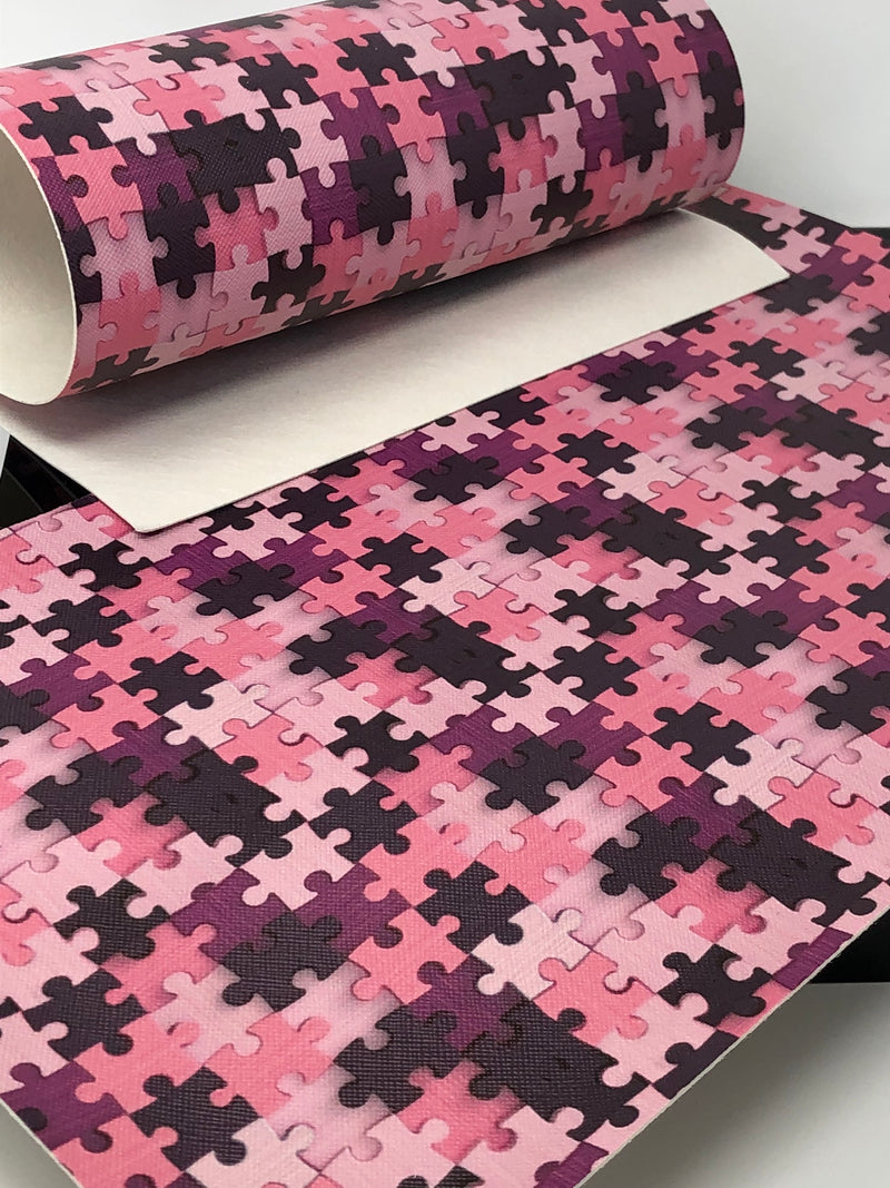 Pink Autism Awareness Puzzle Piece Sheet
