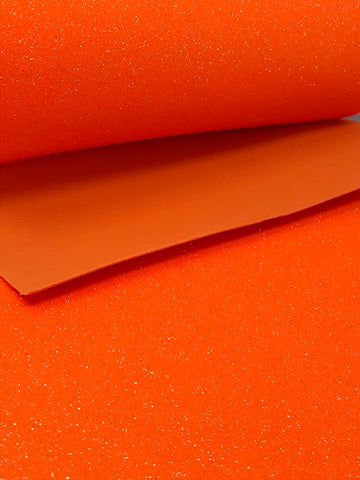 Bright Orange Glitter Foam Sheet