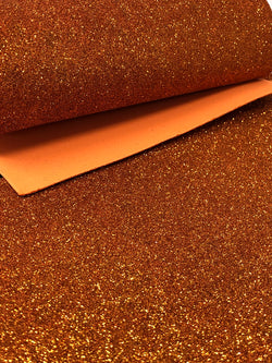 Dark Orange Glitter Foam Sheet