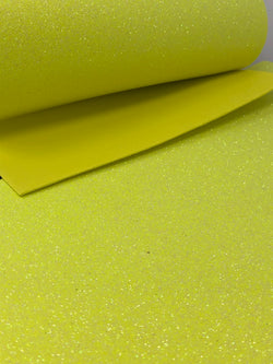 Bright Yellow Glitter Foam Sheet
