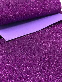 Purple Glitter Foam Sheet