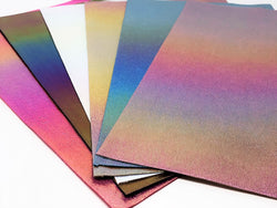 Rainbow Burst Metallic Velvet Sheet Pack (6 sheets per pack - 1 of each color)
