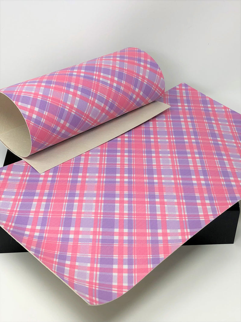 Pink and Purple Plaid Sheet