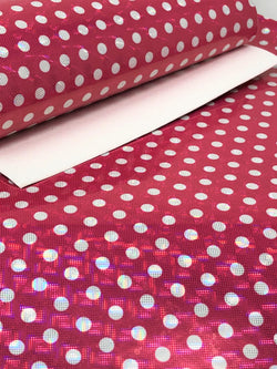 Hot Pink Laser Dot Polka Dot Sheet