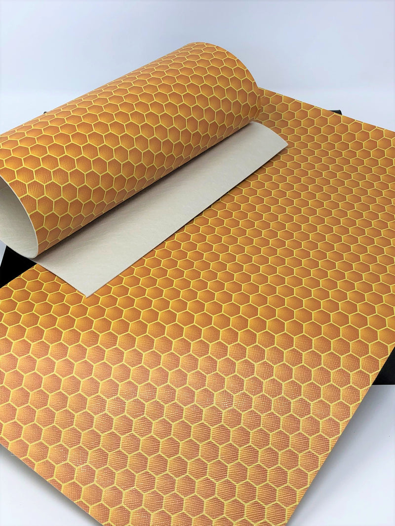 Honeycomb Faux Leather Sheet