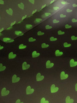 Glow in the Dark Hearts Jelly Sheet