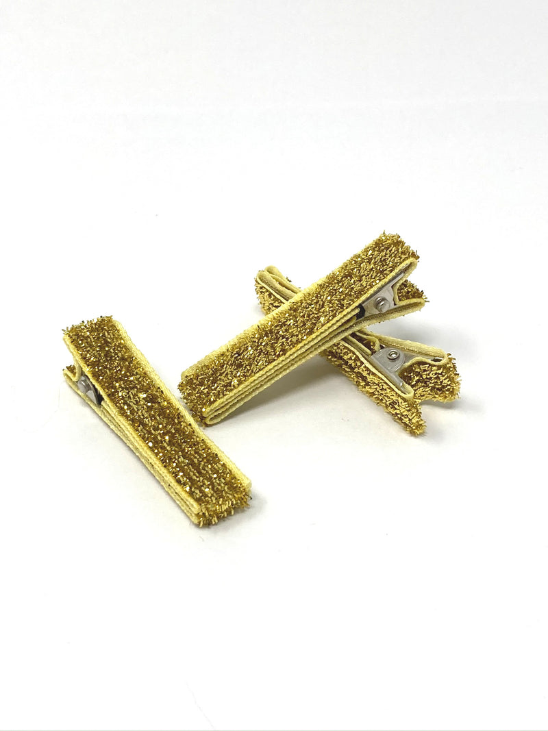 Glitter and Velvet Lined Alligator Clips