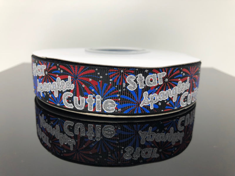 "7/8"" Star Spangled Cutie USDR Ribbon"