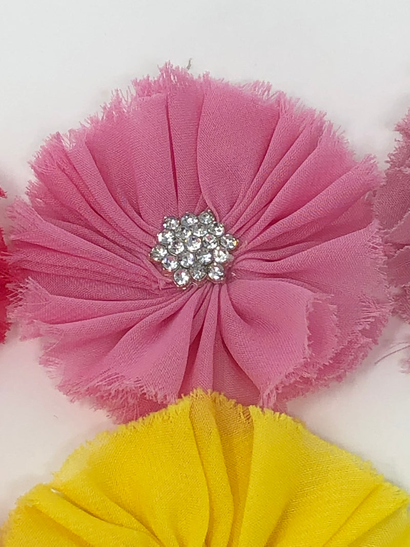 "2.5"" Ballerina Flower with Rhinestone Center"