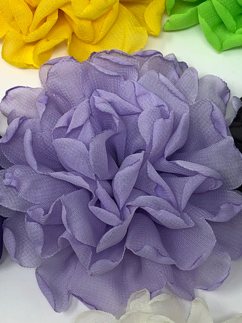 "4"" Burnt Edge Chiffon Flower"