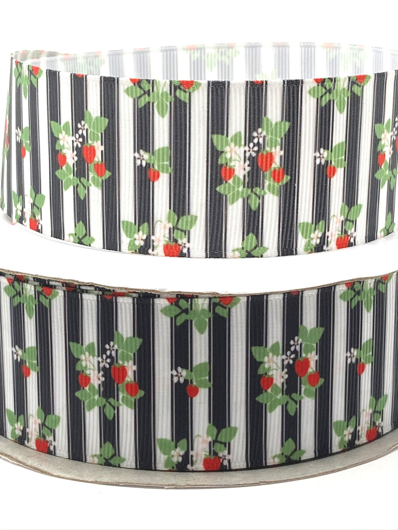 "1.5"" Strawberry Stripes Ribbon"