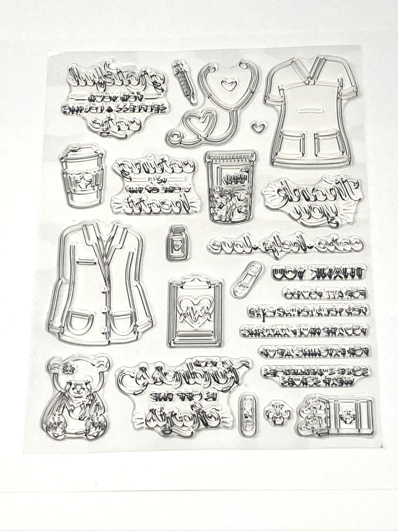 Nurse Cling Stamps