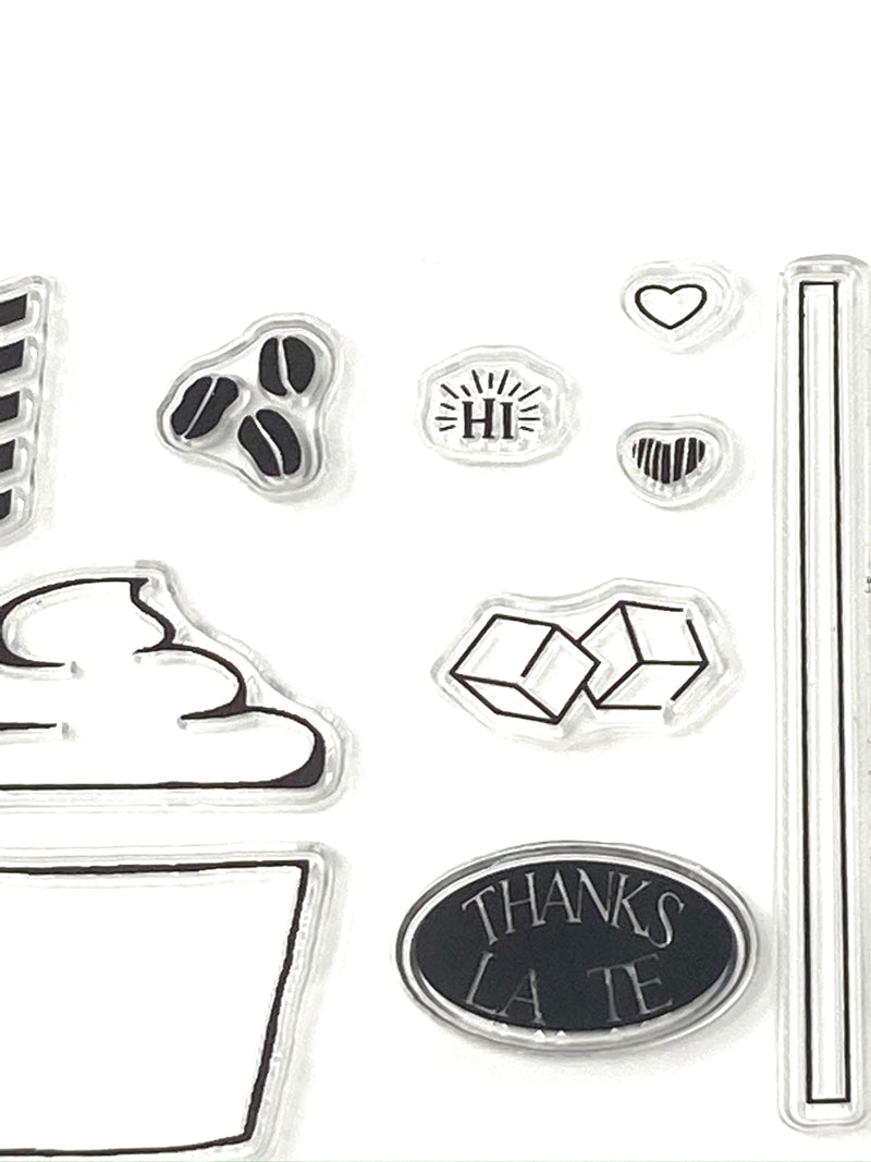 Coffee Cling Stamps