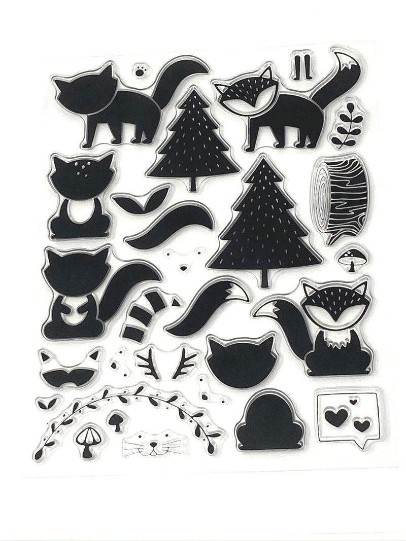 Woodland Animals Cling Stamps