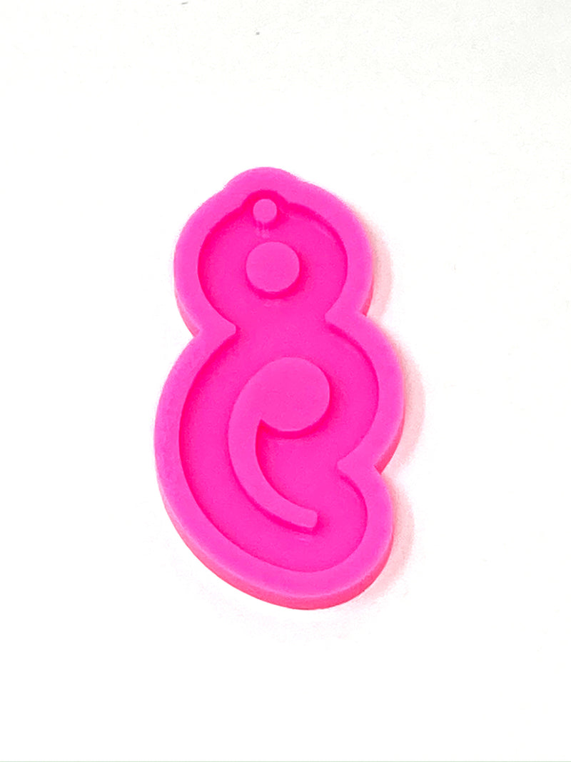 Semicolon Keychain Resin Mold