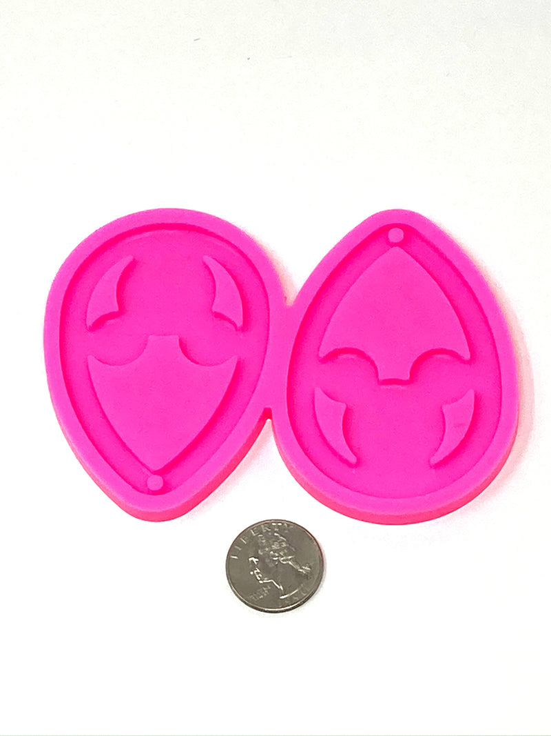 Mouse Drop Earring Resin Mold