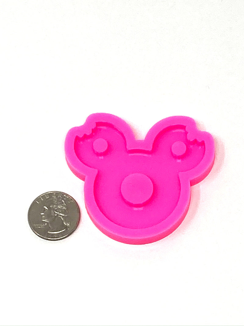 Bitten Mouse Donut Keychain Resin Mold