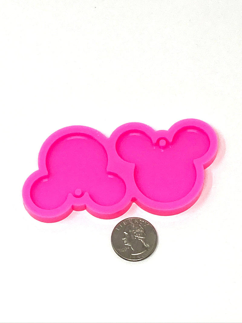 Mouse Head Earring Resin Mold