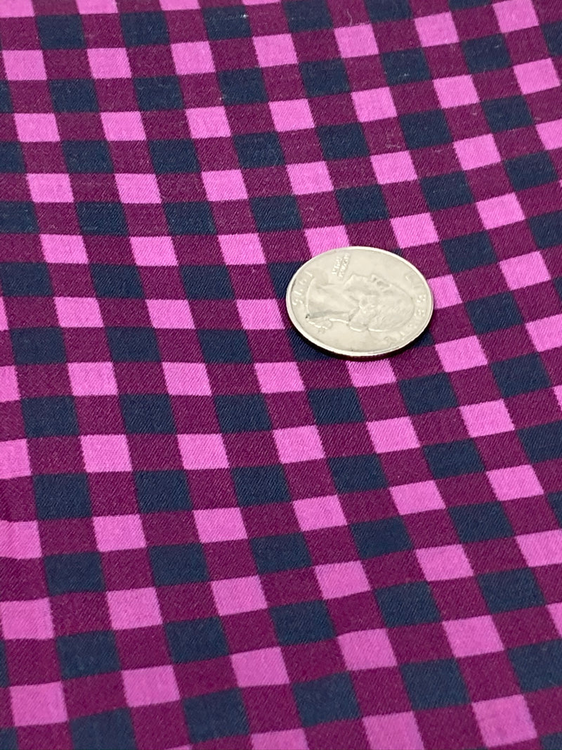 Pink Buffalo Plaid Poly/Cotton Blend Fabric - Half Yard