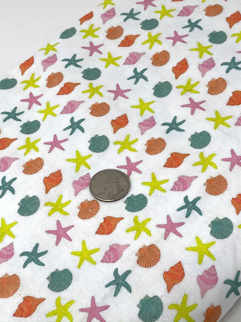 Sea Shell 100% Cotton - Half Yard