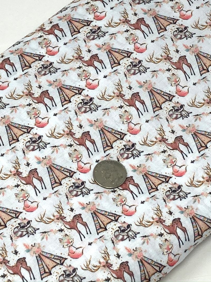 White Fox Poly/Cotton Blend Fabric - Half Yard