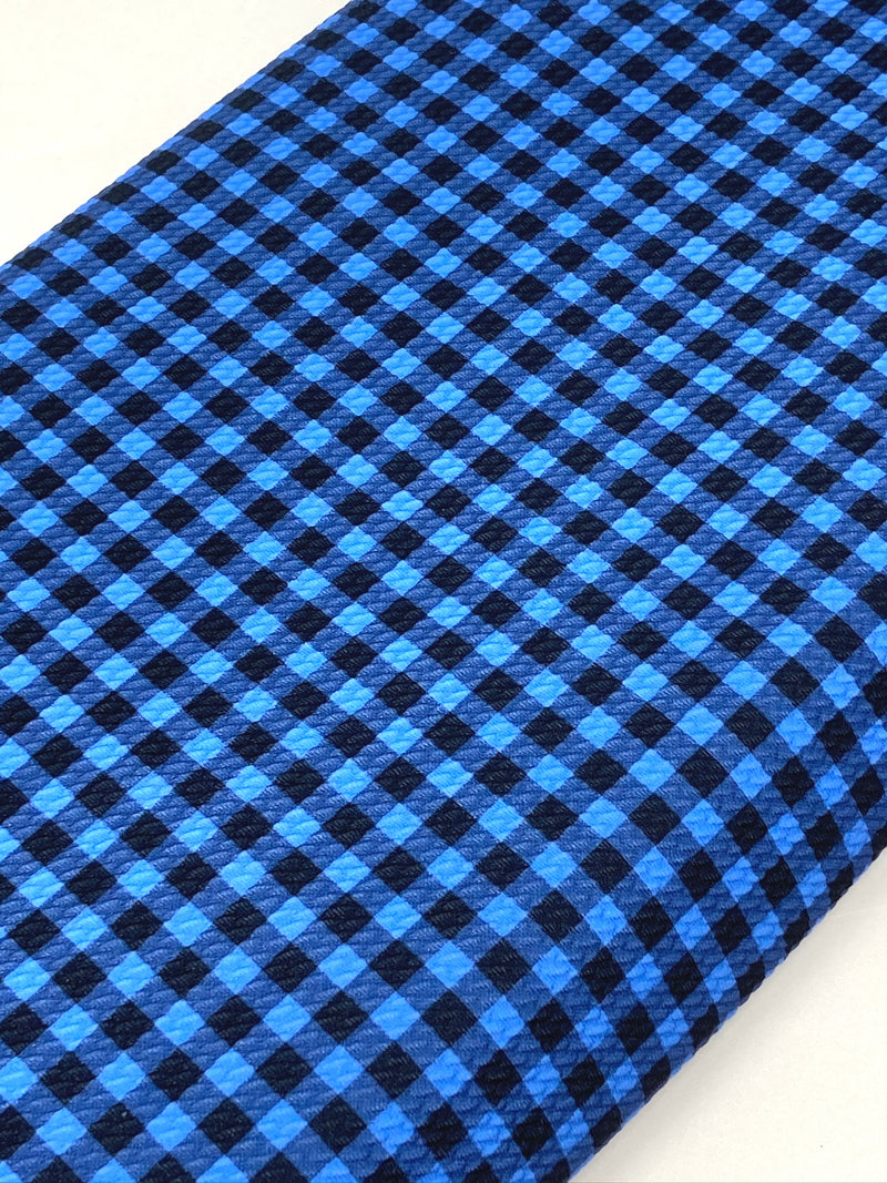 Blue Buffalo Plaid Bullet Liverpool Fabric - Half Yard