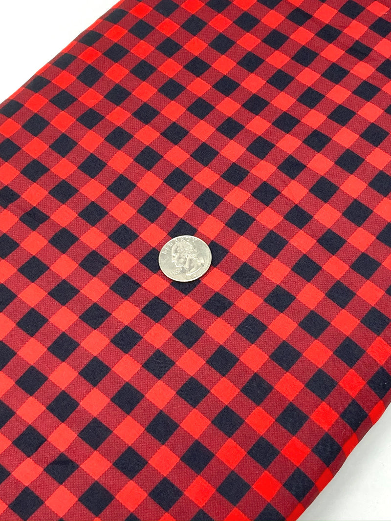 Red Buffalo Plaid Poly/Cotton Blend Fabric - Half Yard